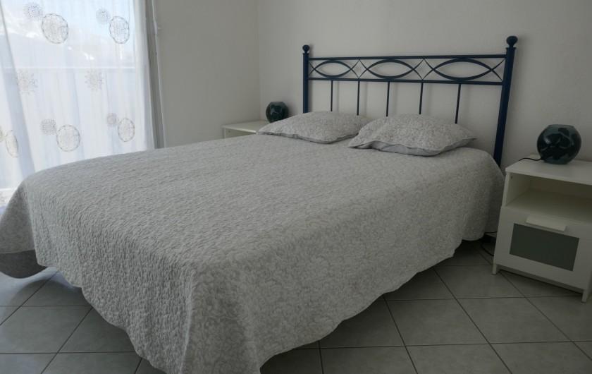 Location de vacances - Appartement à La Grande-Motte - chambre indépendante avec terrasse orientée nord-nord est