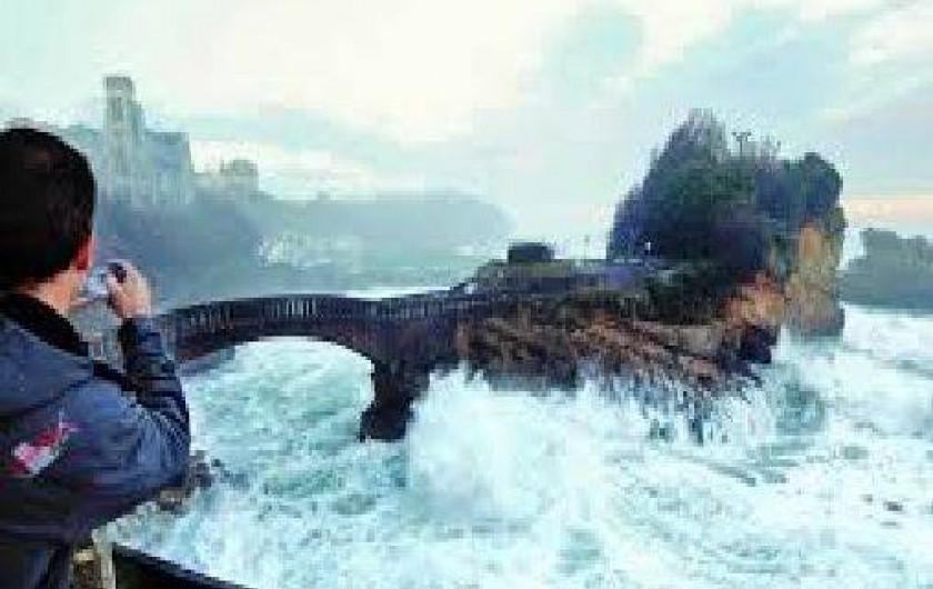 Location de vacances - Appartement à Tarnos - Autre vue Rocher de la vierge par tempête