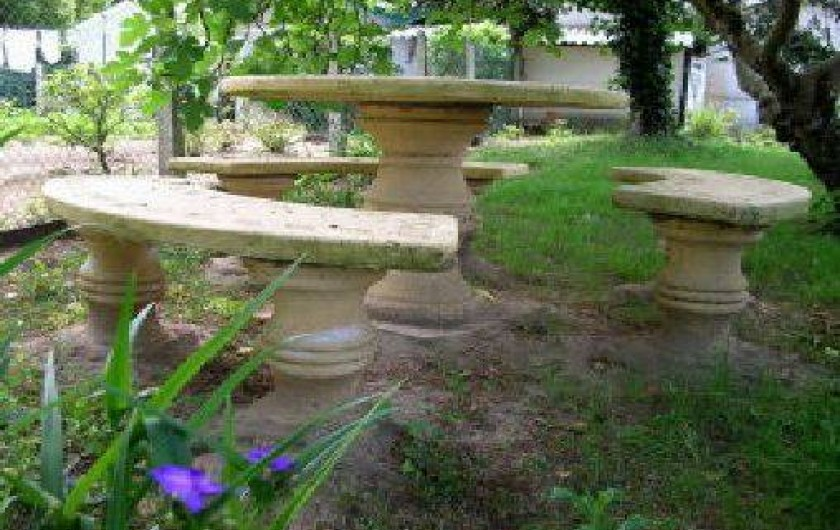 Location de vacances - Appartement à Tarnos - Assises du salon de jardin 4/4