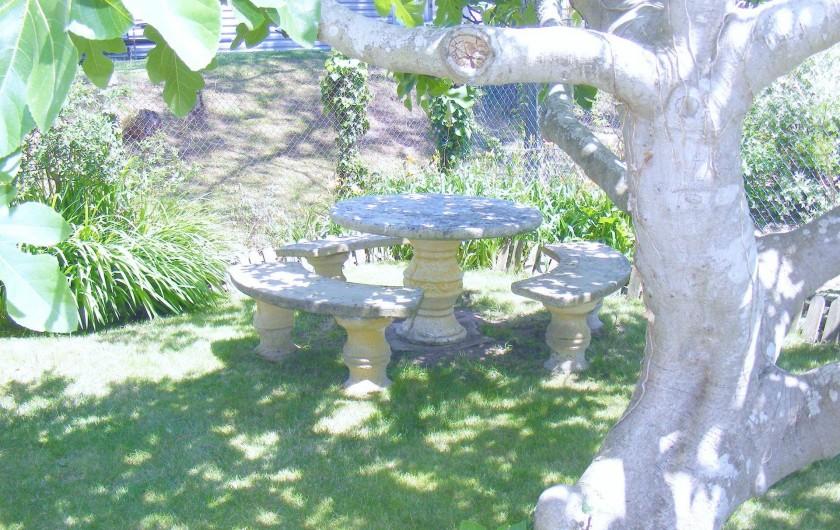 Location de vacances - Appartement à Tarnos - Salon de jardin 2/4