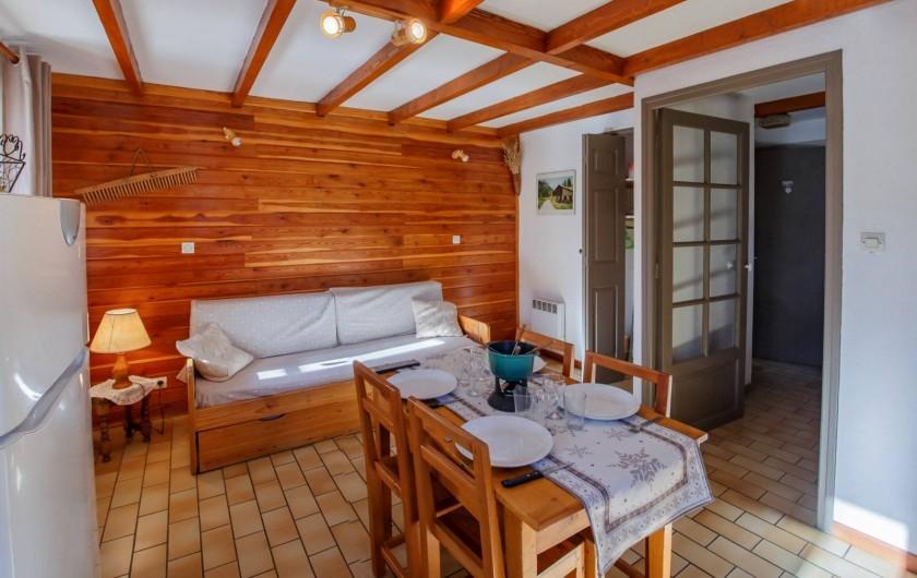 Location de vacances - Appartement à Saint-Véran - Coin séjour/cuisine