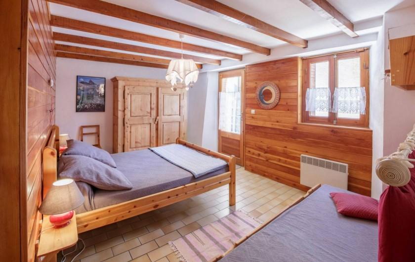 Location de vacances - Appartement à Saint-Véran - Chambre lit à 2 places