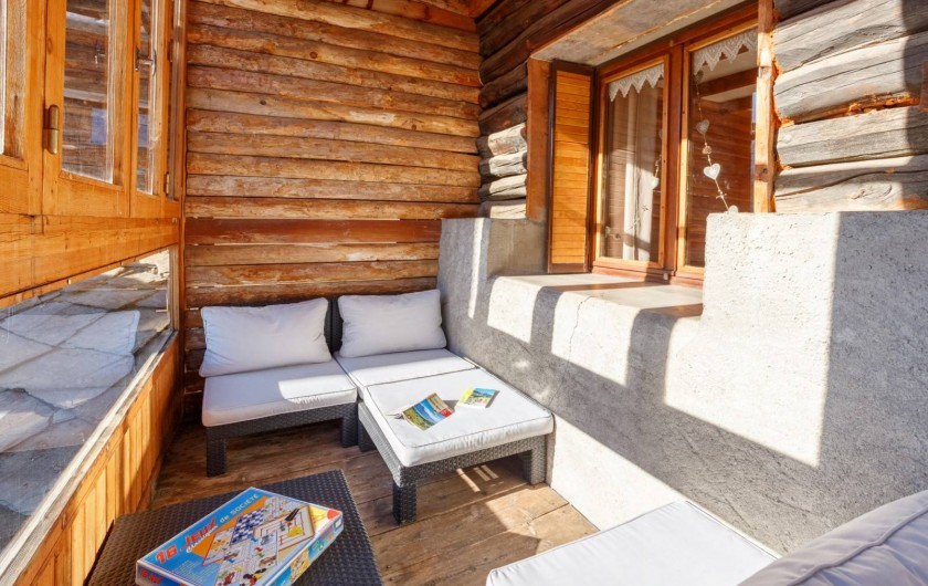 Location de vacances - Appartement à Saint-Véran - Balcon /véranda
