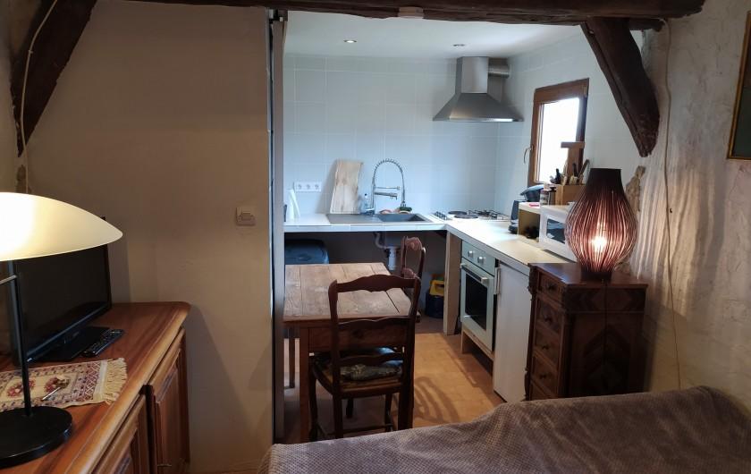 Location de vacances - Gîte à La Rochette - Coin cuisine du studio
