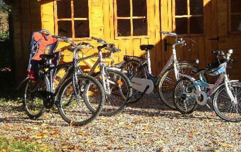 Location de vacances - Roulotte à Châtillon-en-Bazois - location vélos