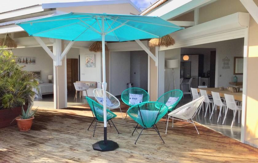 Location de vacances - Villa à Sainte-Anne - terrasse