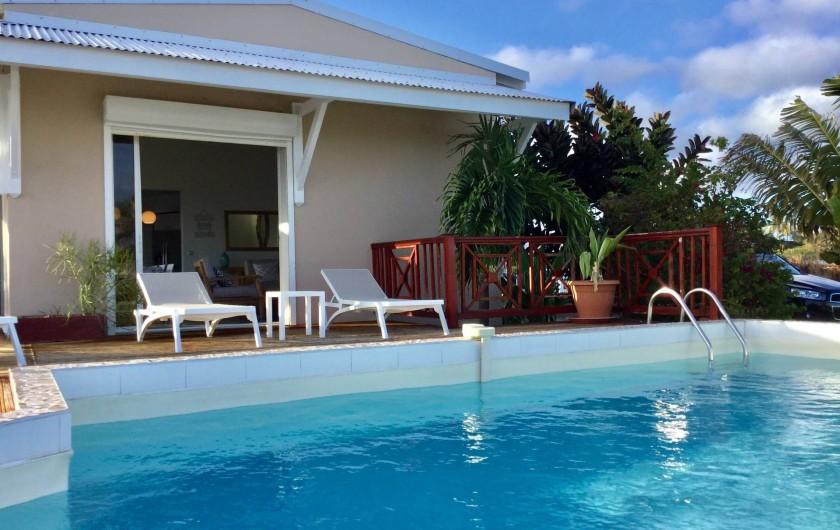 Location de vacances - Villa à Sainte-Anne - vue terrrasse