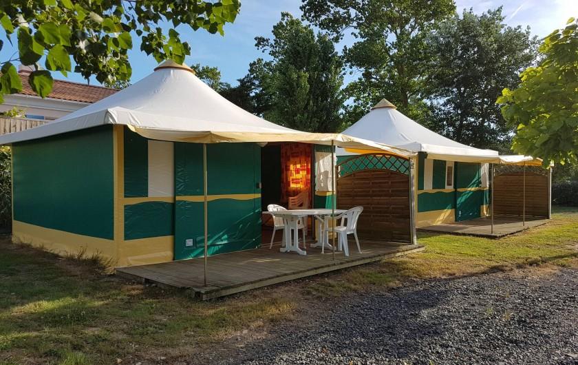 Location de vacances - Camping à Givrand - Bungalow toilé