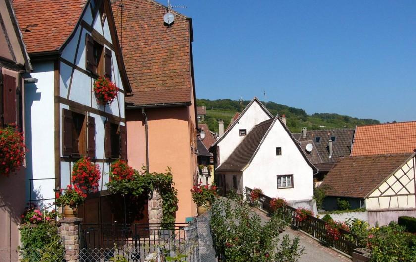 Location de vacances - Gîte à Gueberschwihr - Gîte près de Colmar sur la route des vins d'Alsace au calme à Gueberschwihr