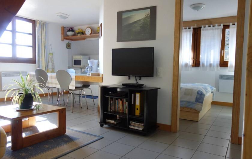 Location de vacances - Gîte à Gueberschwihr - Gîte 68G3711 - coin cuisine Très belle vue sur la plaine d'Alsace