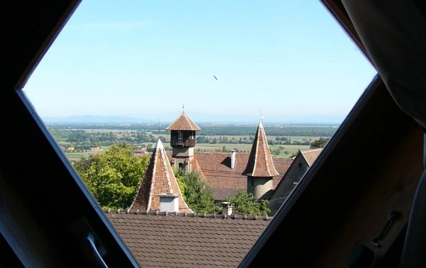 Location de vacances - Gîte à Gueberschwihr - Gîte 68G3711 - Vue imprenable