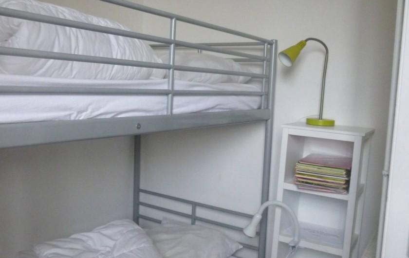 Location de vacances - Maison - Villa à Agon-Coutainville - petite chambre 2 lits superposés