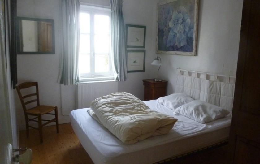 Location de vacances - Maison - Villa à Agon-Coutainville - chambre au lit 2 personnes côté Mer