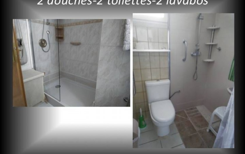Location de vacances - Villa à Cambrils - 2 Salles de douches  2 toilettes  2lavabos