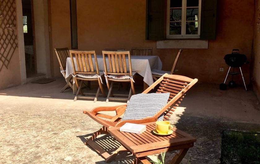 Location de vacances - Mas à Céreste - Terrasse du Mas des Lavandes