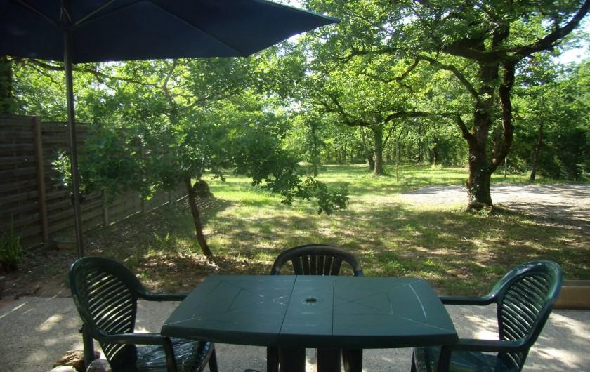 Location de vacances - Gîte à Fontanes - terrasse