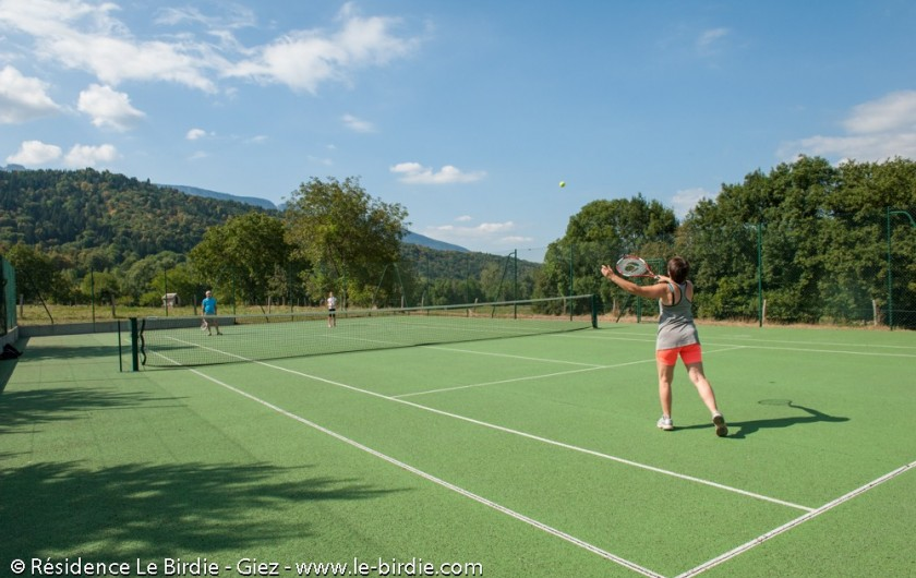 Location de vacances - Hôtel - Auberge à Giez - Terrain de tennis - prêt de matériel
