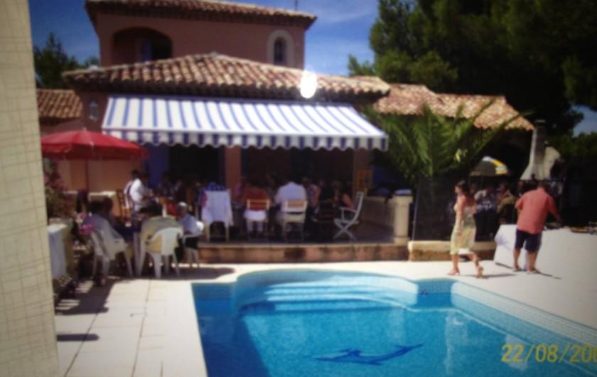 Location de vacances - Maison - Villa à Ensuès-la-Redonne - TERRASSE AVEC ACCES PISICNE