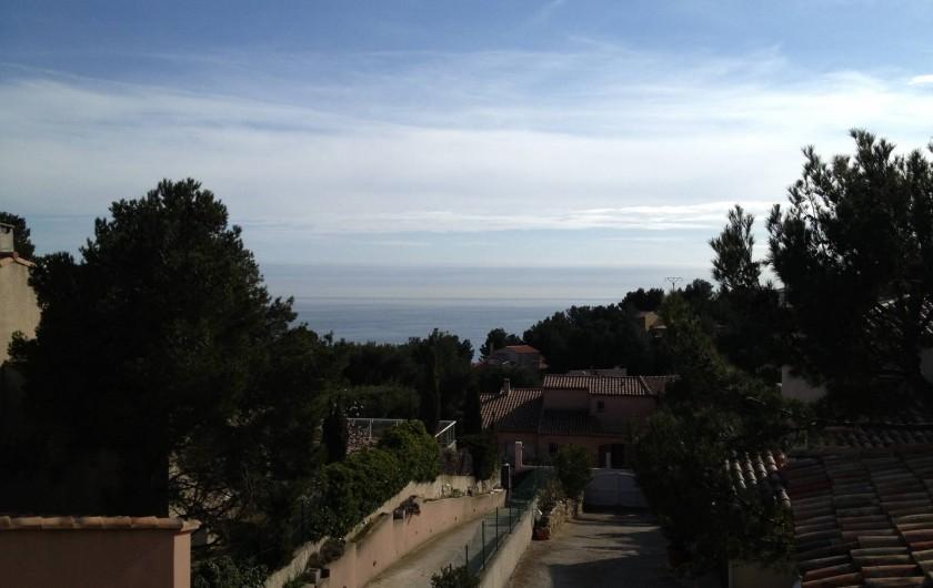 Location de vacances - Maison - Villa à Ensuès-la-Redonne - VUE SUR MER DE LA TERRASSE