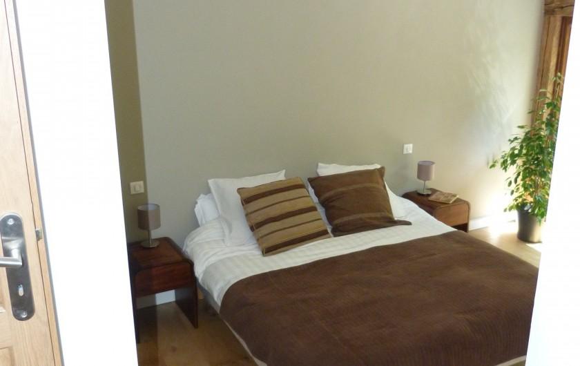 Location de vacances - Chalet à Séez - Chambre 5 - Le lit peut être divisé en 2 lits simples + 1 lit d'appoint