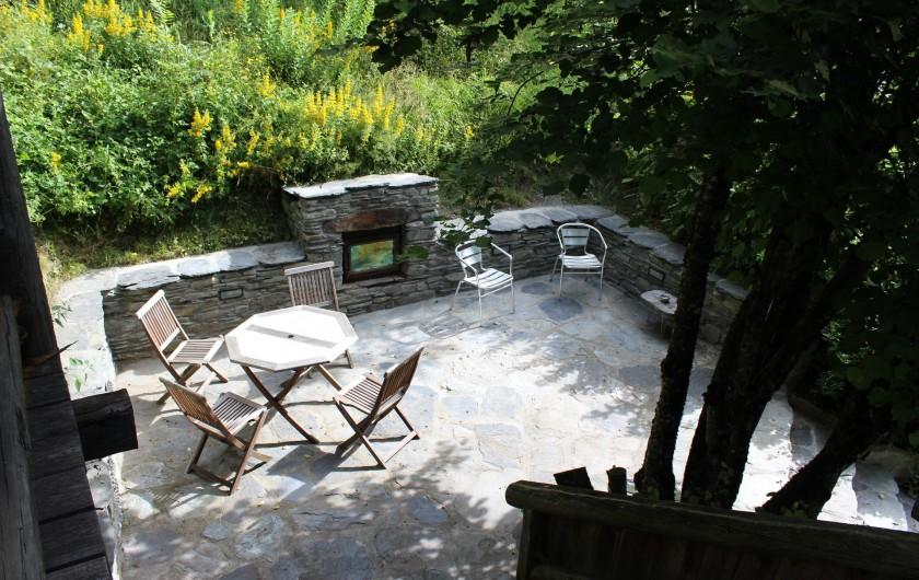 Location de vacances - Chalet à Séez - Terrasse