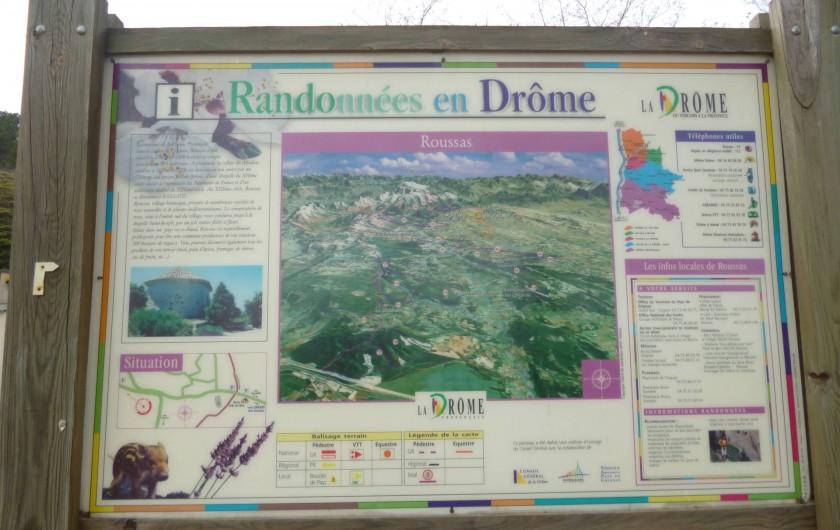 Location de vacances - Villa à Roussas - Possibilité de randonnées dans la Drôme