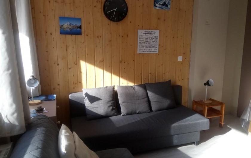 Location de vacances - Appartement à Le Collet d'Allevard - coin canapés