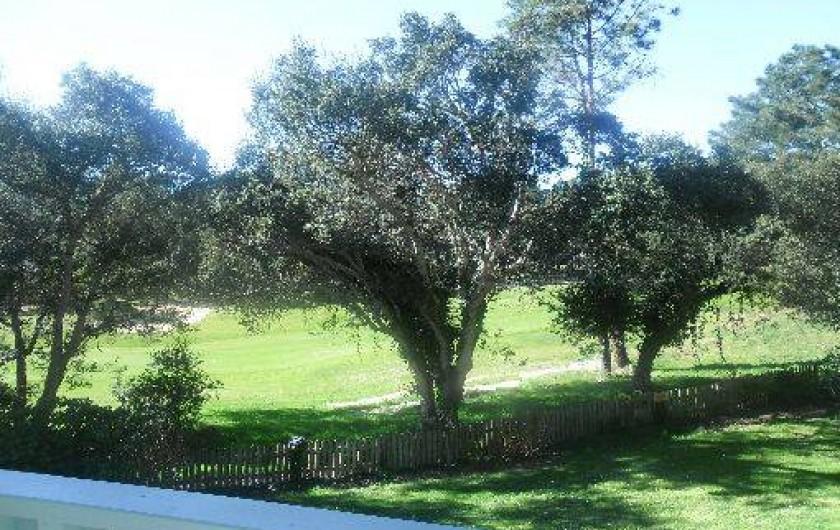 Location de vacances - Appartement à Moliets-et-Maa - Vue du golf depuis la Terrasse