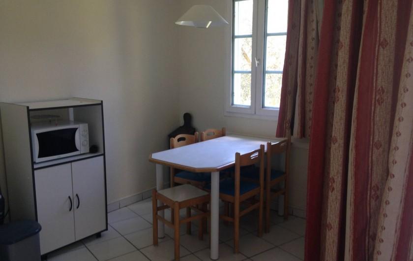 Location de vacances - Appartement à Moliets-et-Maa - Coin repas