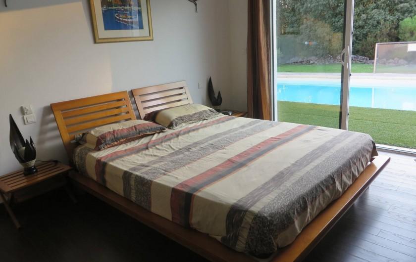 Location de vacances - Villa à Sainte-Lucie de Porto-Vecchio - Chambre 1