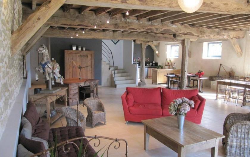 Location de vacances - Gîte à Roussennac - Pièce à vivre maison d'hôtes