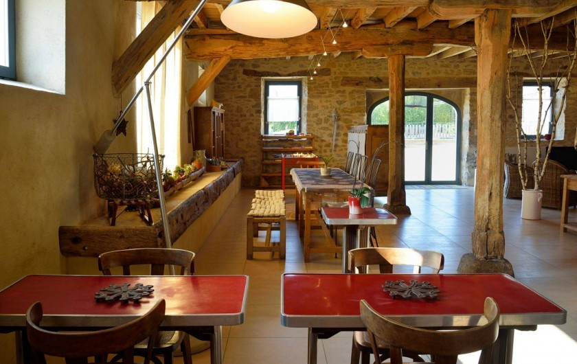 Location de vacances - Gîte à Roussennac - Salle à manger de la maison d'hôtes