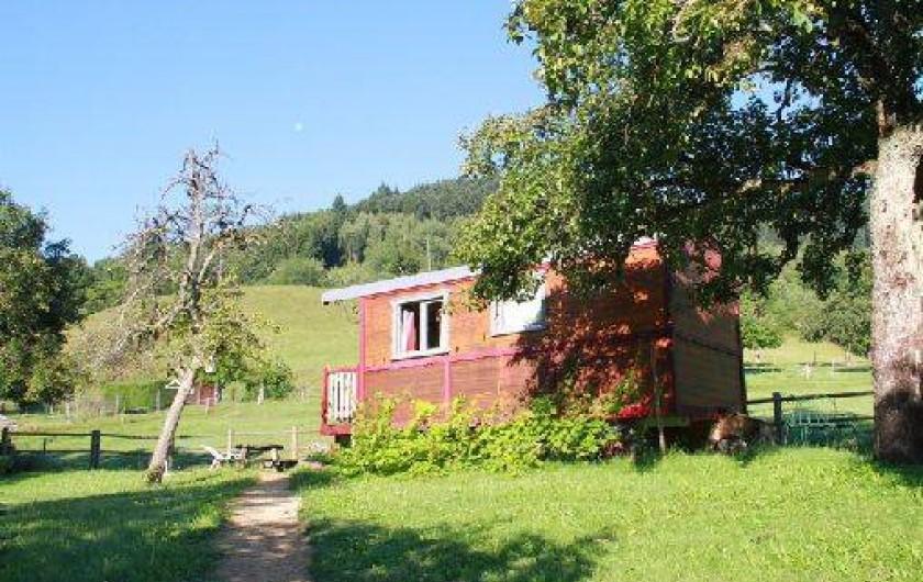 Location de vacances - Roulotte à Mitzach - Roulotte