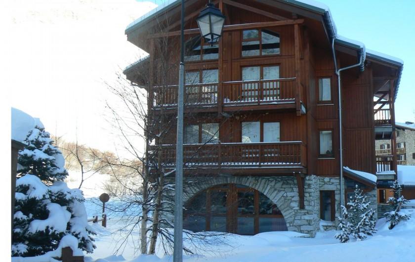 Location de vacances - Appartement à Val-d'Isère - Extérieur du Chalet