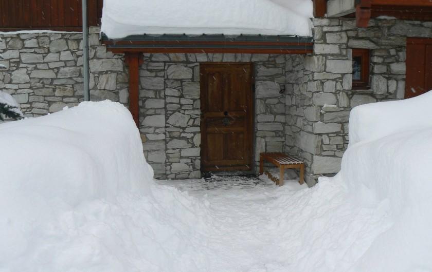 Location de vacances - Appartement à Val-d'Isère - Porte d'entrée de l'appartement