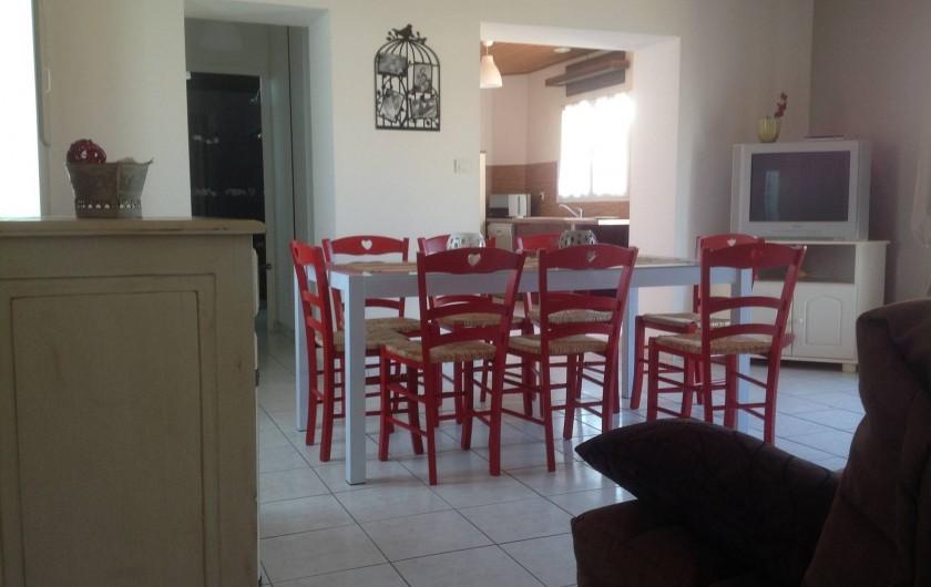 Location de vacances - Villa à Les Sables-d'Olonne - salle à manger