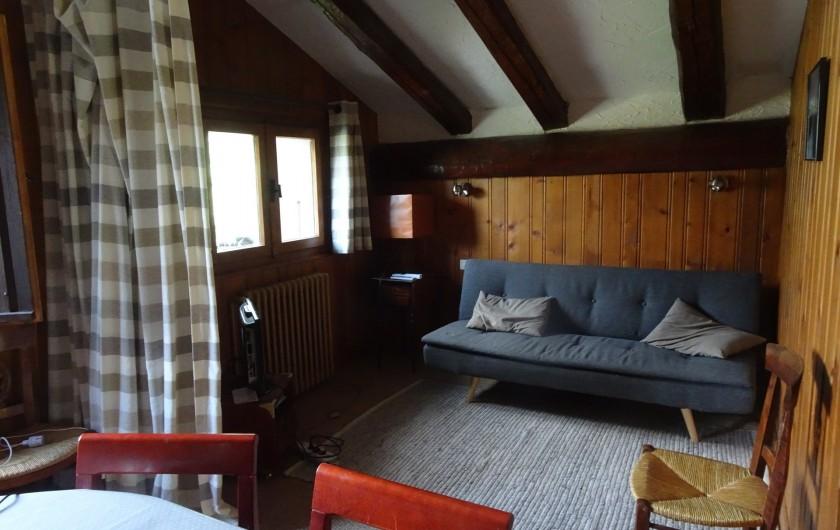 Location de vacances - Chalet à Les Houches - Alcôve donnant sur la salle à manger