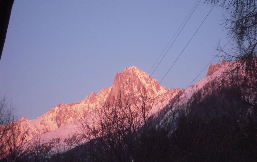 Location de vacances - Chalet à Les Houches - Coucher du soleil
