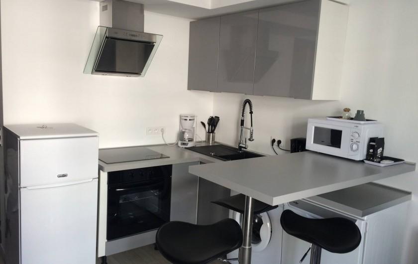 Location de vacances - Studio à Cannes - cuisine americaine moderne