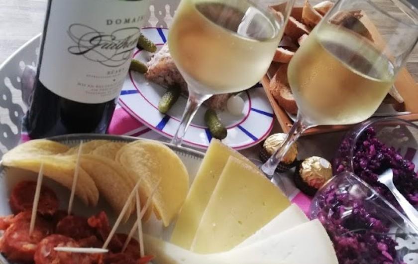 Location de vacances - Chambre d'hôtes à Salies-de-Béarn - assiette produits locaux