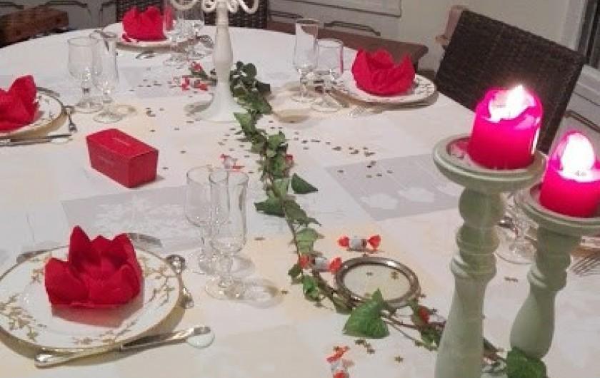Location de vacances - Chambre d'hôtes à Salies-de-Béarn - la table à Villa hortebise