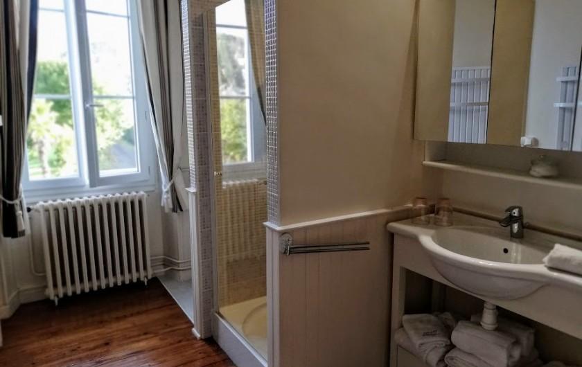 Location de vacances - Chambre d'hôtes à Salies-de-Béarn - salle de bain de la Beltza