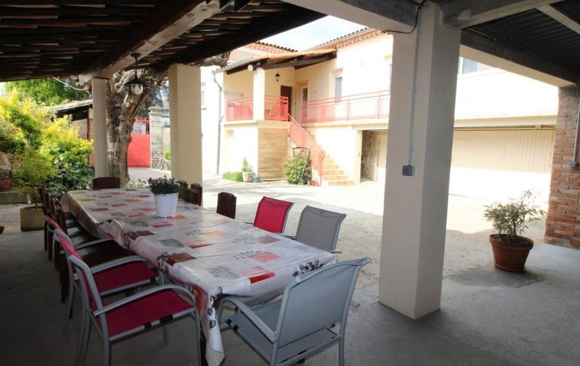 Location de vacances - Gîte à Aubenas - Coin repas dans la cour