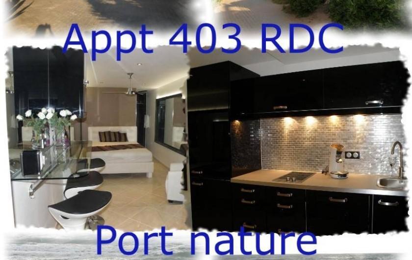 Location de vacances - Studio à Le Cap d'Agde - Cuisine équipée, notamment d'un réfrigérateur, congélateur, lave vaisselle...