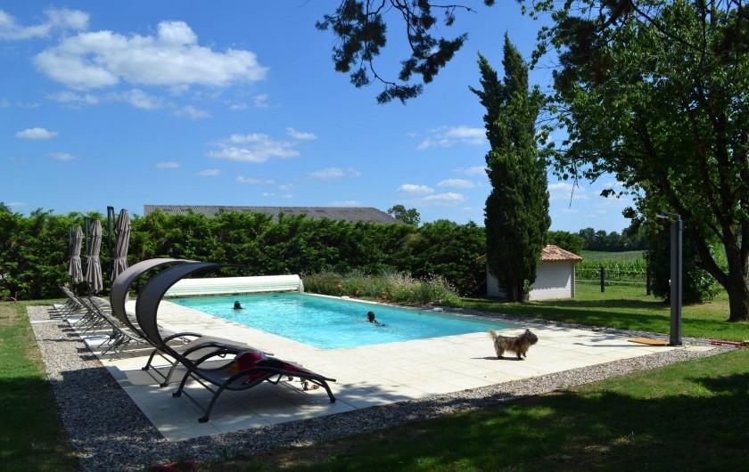 Location de vacances - Gîte à Lougratte - Piscine