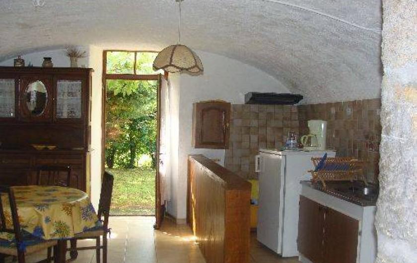 Location de vacances - Appartement à Saint-Alban-Auriolles - Cuisine de la location du Rez-de-Chaussée