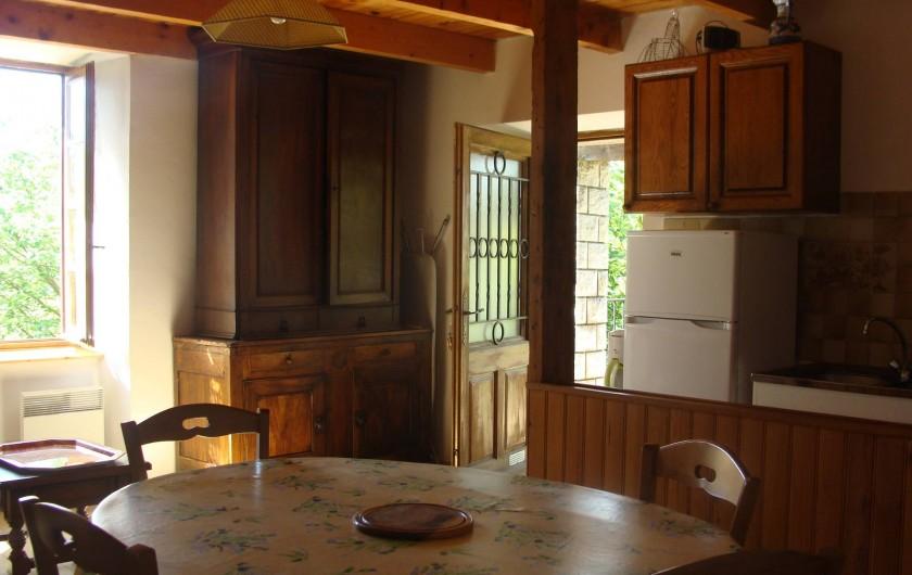 Location de vacances - Appartement à Saint-Alban-Auriolles - Cuisine de la location du 1er étage