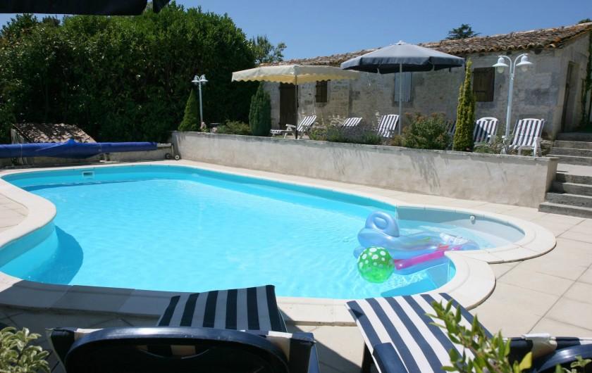 Location de vacances - Chambre d'hôtes à Soubran - Domaine la Fontaine piscine chauffée