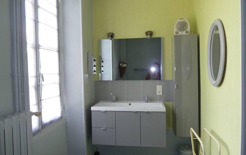 Location de vacances - Gîte à Druyes-les-Belles-Fontaines - salle de douche/WC