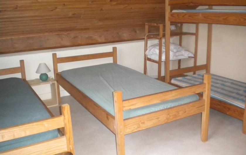Location de vacances - Bungalow - Mobilhome à Villefranche-de-Rouergue - couchages en mezzanine d'un des gites